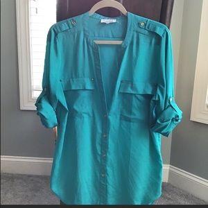 Calvin Klein blouse; large